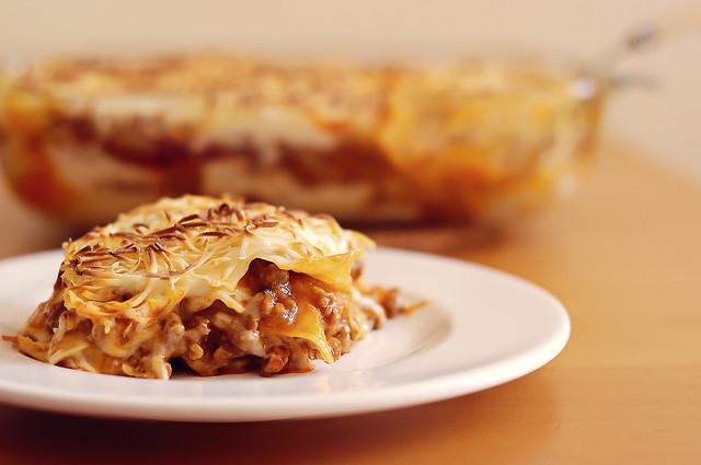 plate of lasagne