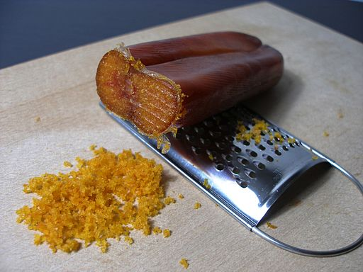 grated mullet roe